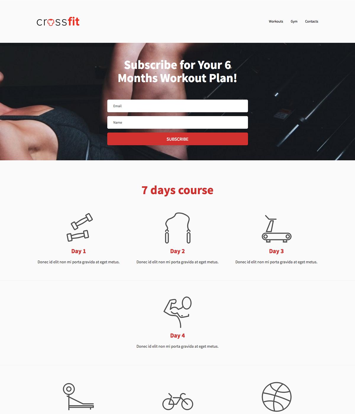 E-course template example