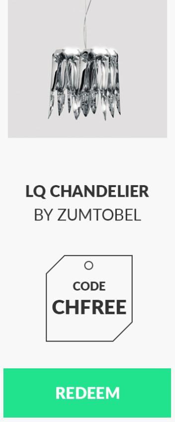 LQ Chandelier by Zumtobel for free - code CHFREE