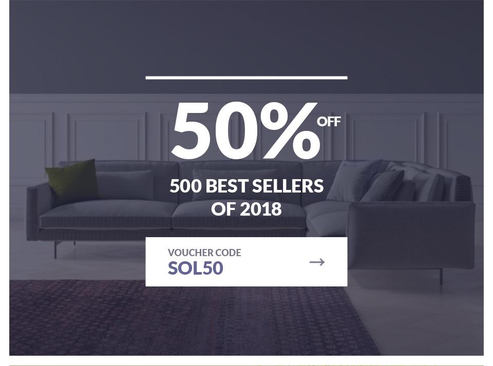 50% Off 500 Best Sellers of 2018
