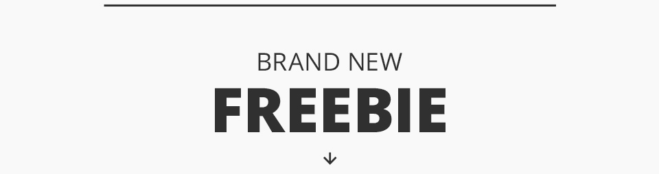One new freebie for the week