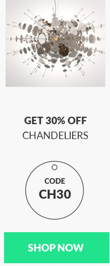 Get chandeliers 3d models with 30% off - code CH30
