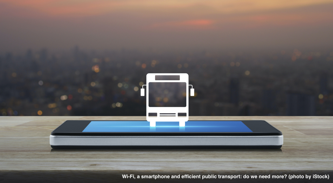 Wi-Fi, a smartphone and efficient public transport: do we need more?