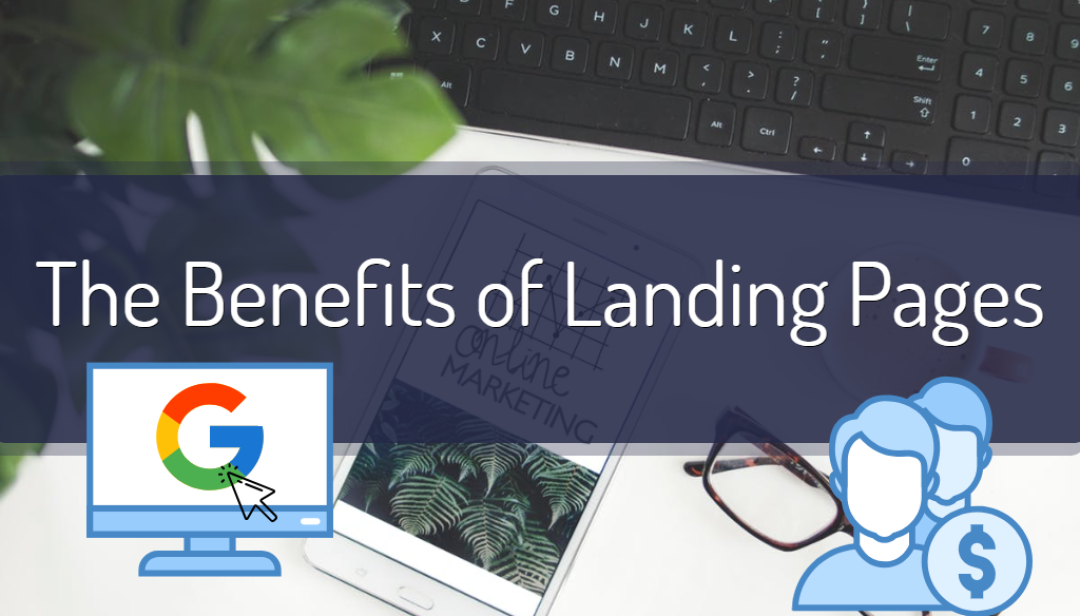 computer landing page graphic