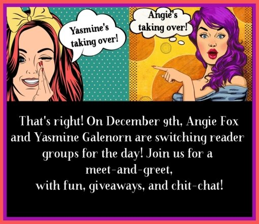 Angie Fox and Yasmine Galenorn are taking over each other's groups for the day!