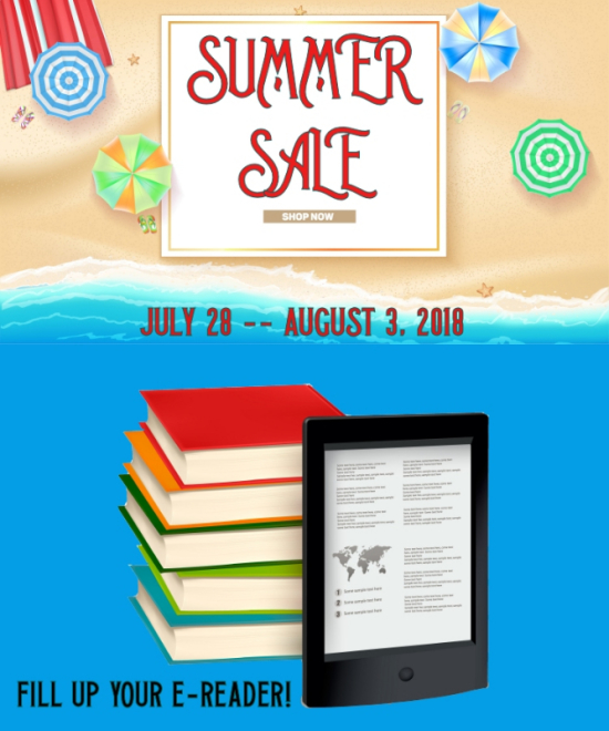 SUMMER SALE--July 28 -- August 3, 2018