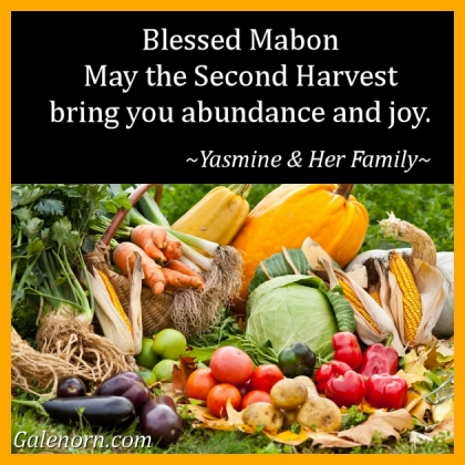 BLESSED MABON--MAY THE SECOND HARVEST BRING YOU JOY