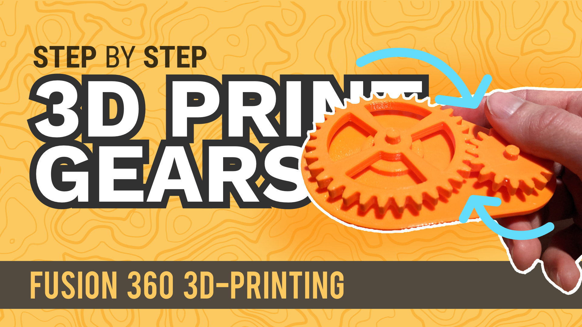 3D Print gears created in Fusion 360