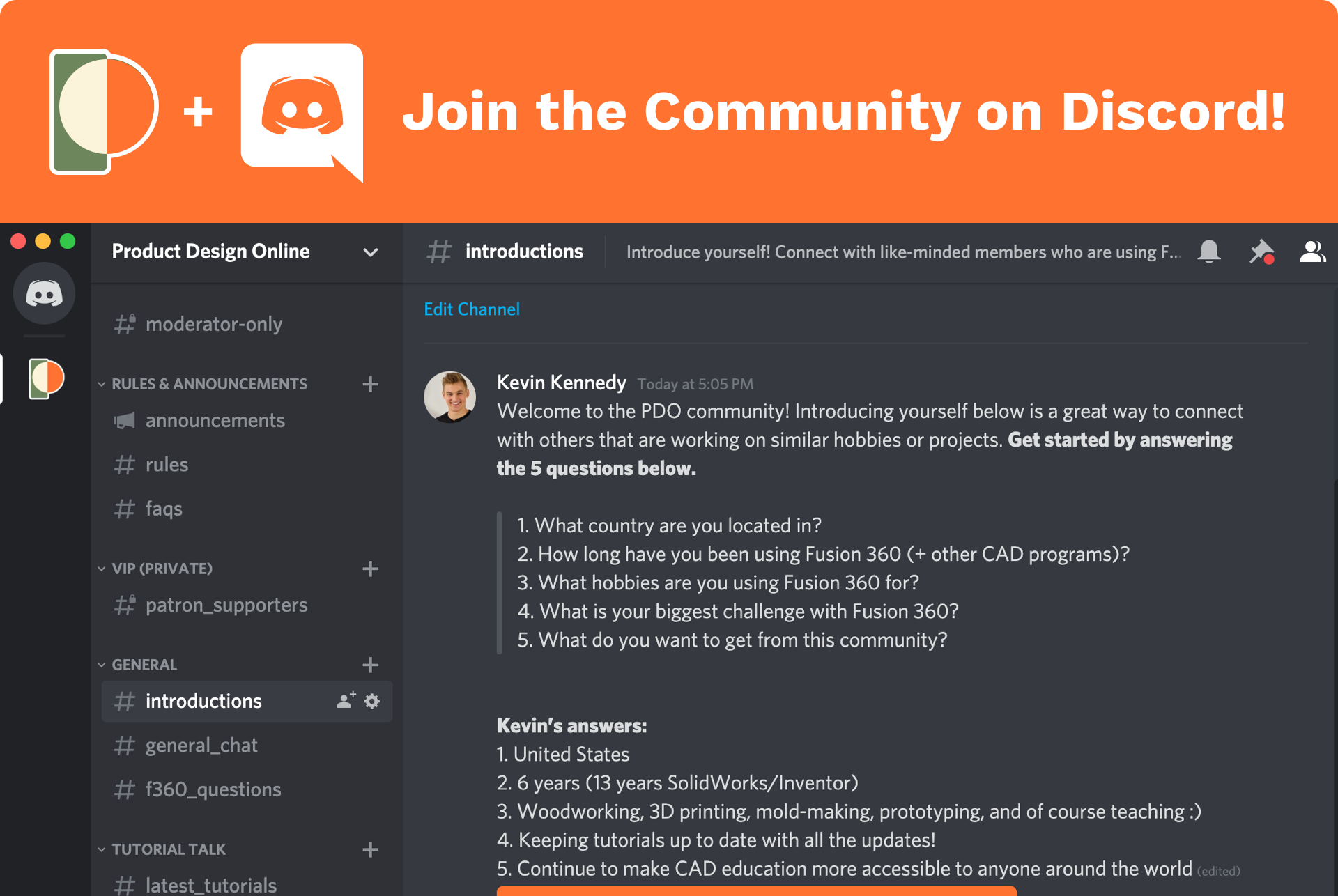 New Product Design Online Discord Server