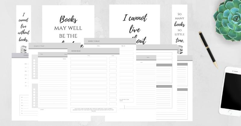 Free, printable reading planner