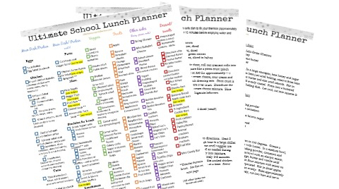 Ultimate List of School Lunch Ideas (Free printable
