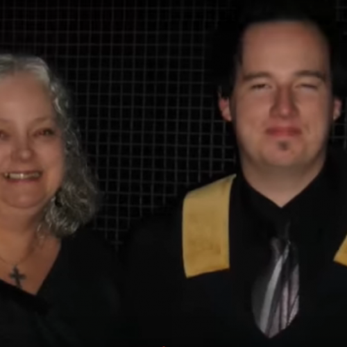With Mom: Graduating from seminary with my M.Div.