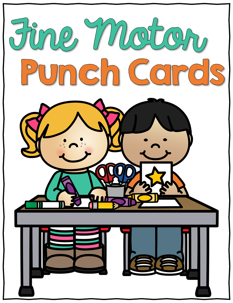 Fine Motor Punch Cards