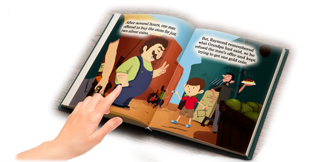 Children's Book: Raymond's Uncut Diamond Open Book