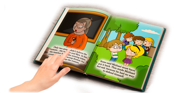 Children's Book: A Glass Full of Rumors Open Book