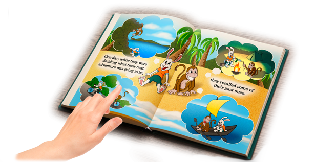 Children's Book: Friends Through Sand and Stone Open Book