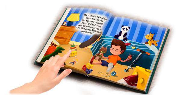 Children's Book: Prince Of Toys And Food Open Book