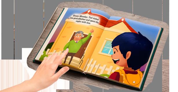 Children's Book: A Grand Bed Adventure Open Book