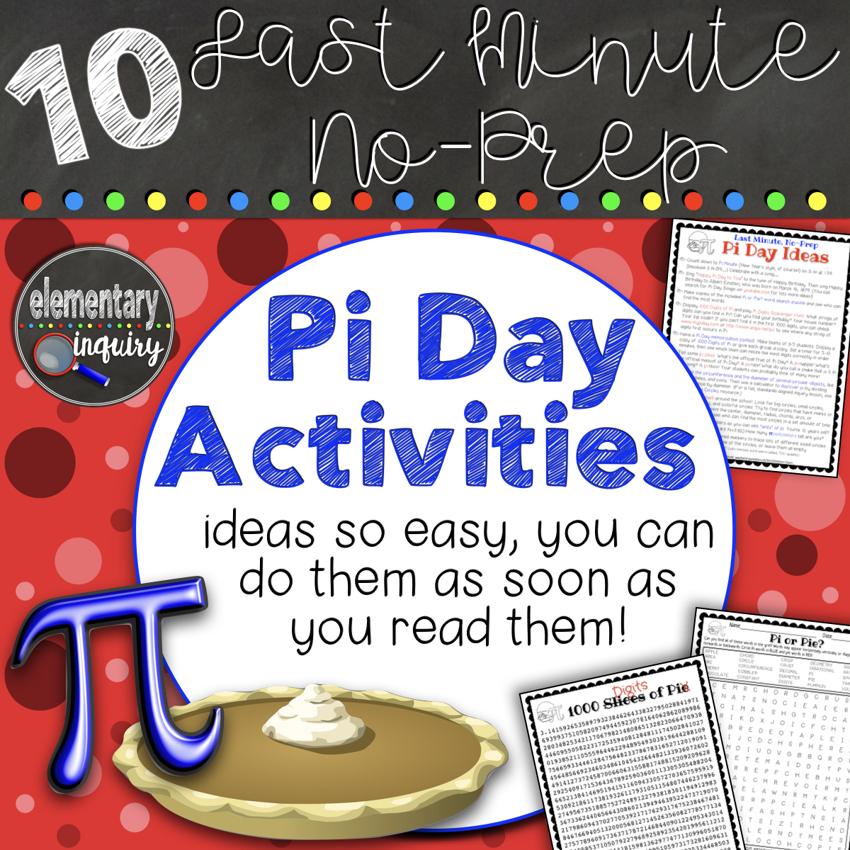 Free Printable Pi Day Activities for the 5th Grade