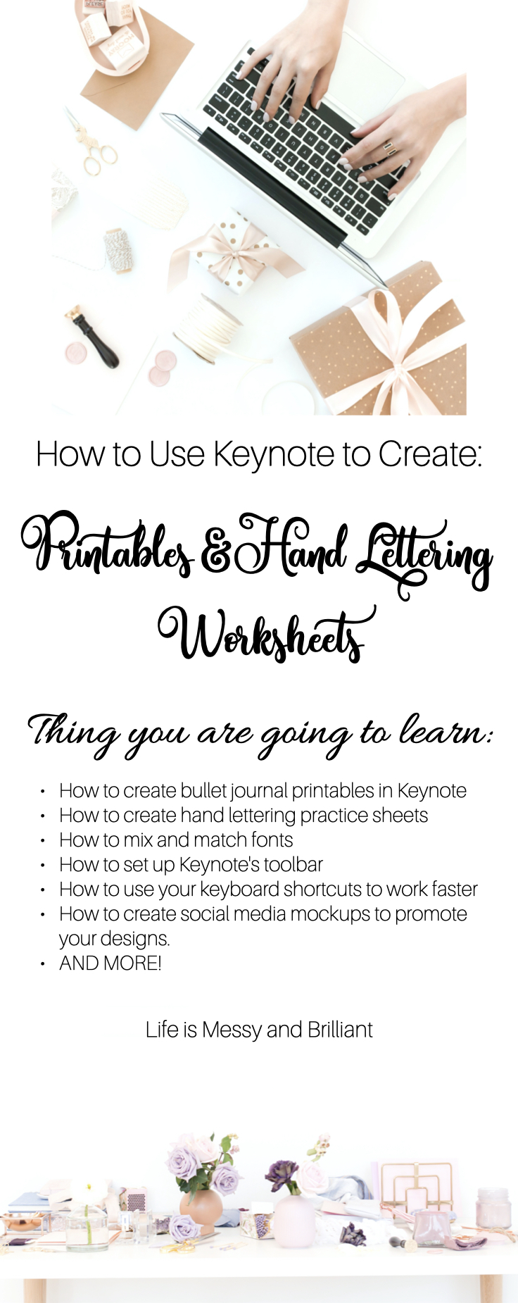 how to bullet journal printables and digital hand lettering