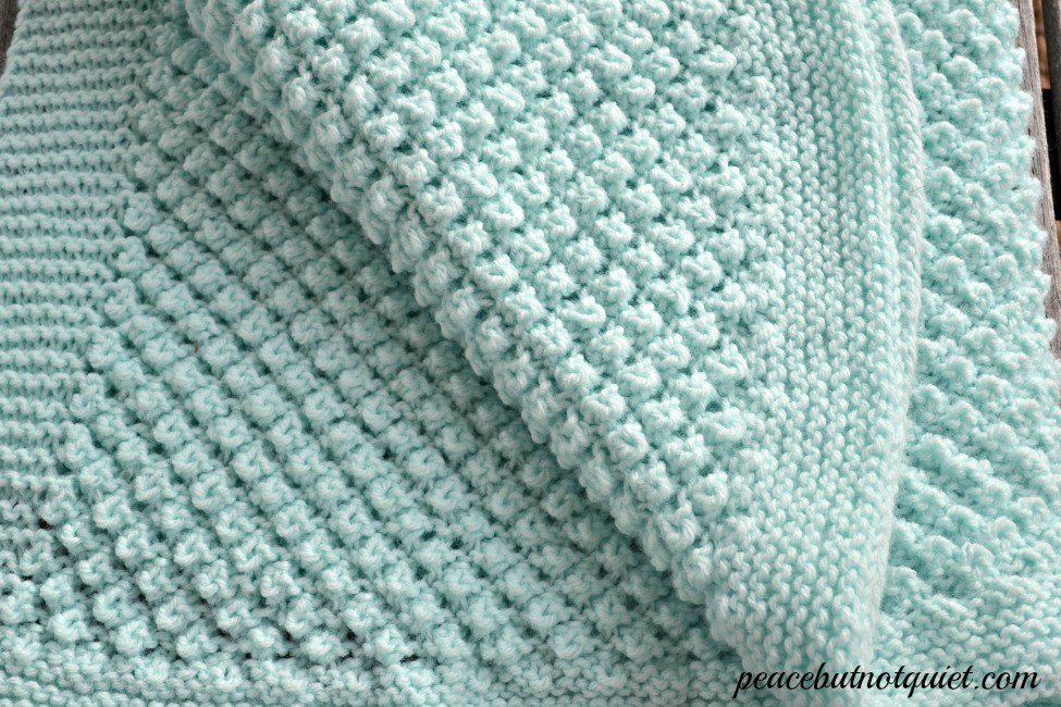 10 Adorable Baby Blanket Knitting Patterns Peace But Not Quiet