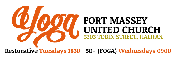 Yoga at Fort Massey United Church masthead graphic