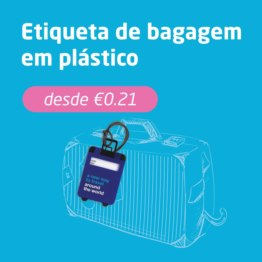 Etiqueta de bagagem em plástico