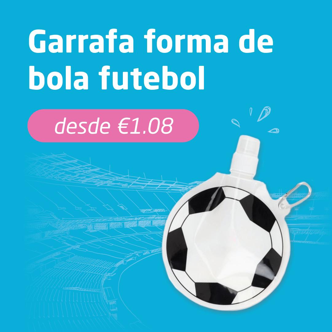 Garrafa forma de bola de futebol