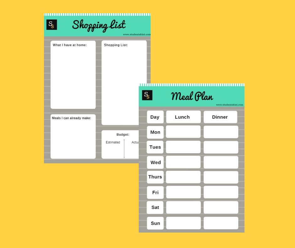 Healthy Eating On A Budget Free Worksheet Download Student Skint