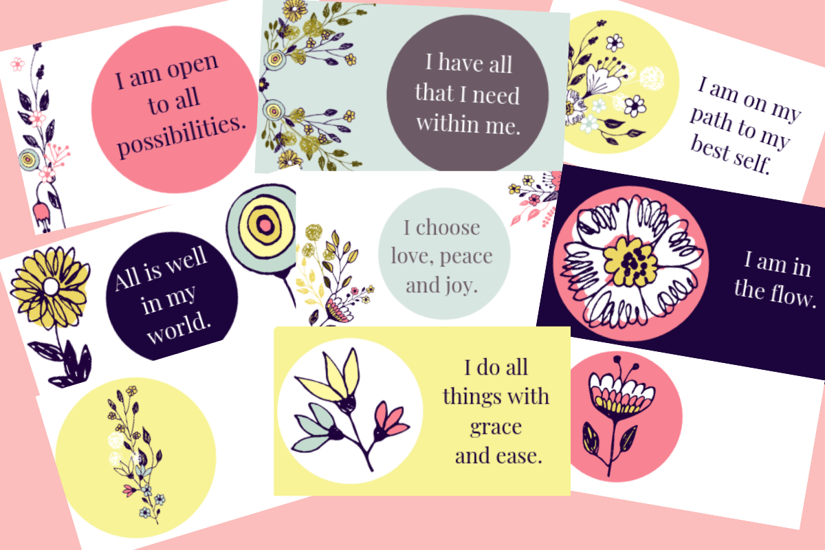 picture regarding Free Printable Affirmation Cards identified as Absolutely free Printable Confirmation Playing cards