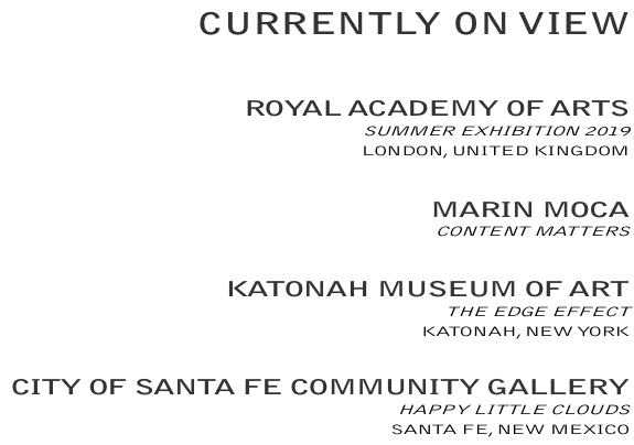 ALSO IN JUNE:  ROYAL ACADEMY OF ARTS, SUMMER EXHIBITION 2019, LONDON, UNITED KINGDOM /  KATONAH MUSEUM OF ART, THE EDGE EFFECT, KATONAH, NEW YORK / PILCHUCK SESSION 2:  CLASSICAL INQUIRY / MAKING IDEAS VISIBLE, STANWOOD, WASHINGTON