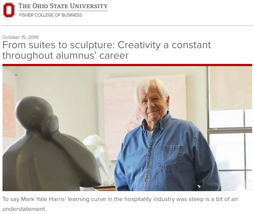 Ohio State University, October 15, 2019 From suites to sculpture: Creativity a constant throughout alumnus' career