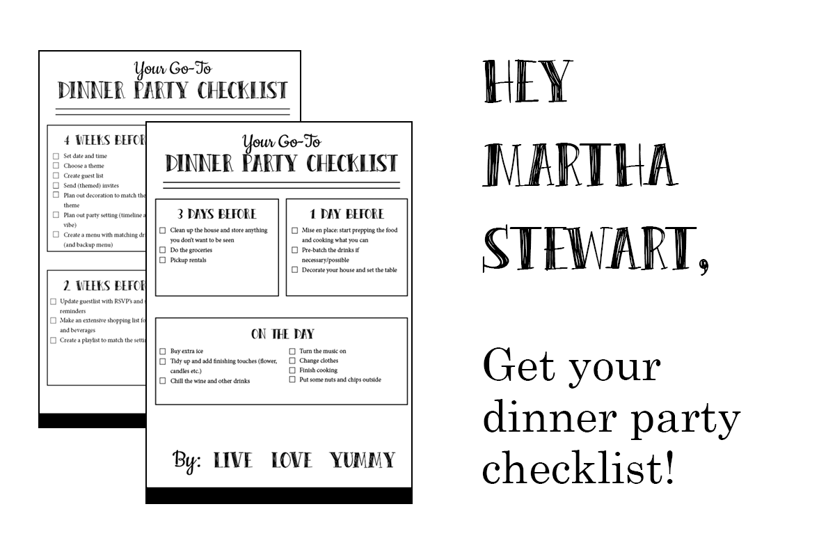 Dinner Party Checklist Preview