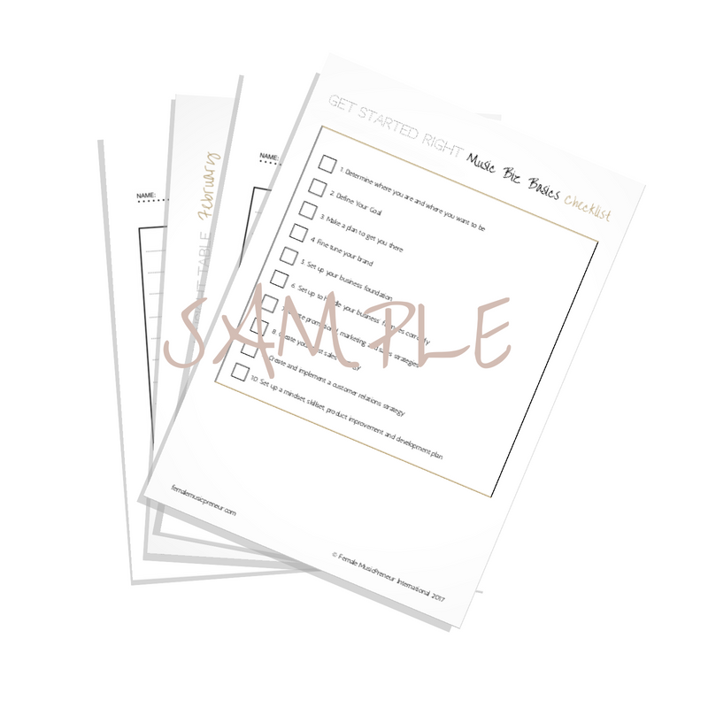 Free Bonus Checklist + Extras ~ Music and Money - A Success Guide for Female Music Creators, Recording Artists, Songwriters and Musicians/ How to Start a Music Career & Succeed in Music Business - Make Money From Your Music Now! By Danelle Harvey.png
