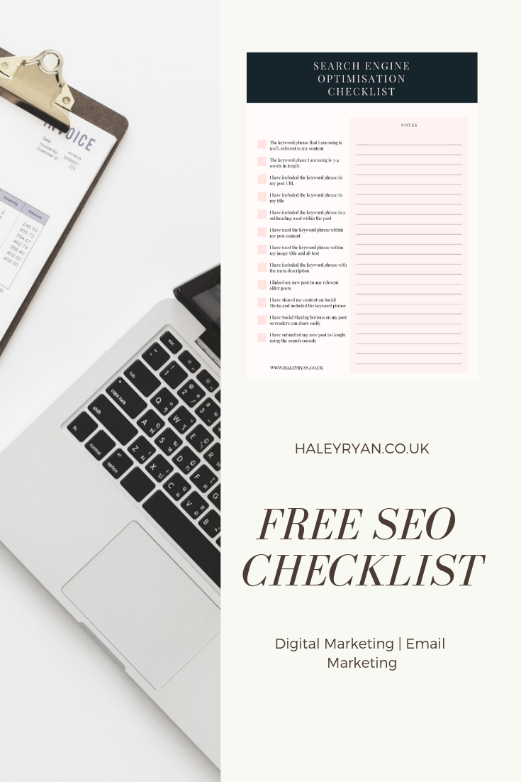 FREE SEO Checklist | Find out how you can bring more traffic to the content that you slave over and learn how you could double your mailing list within the next week!