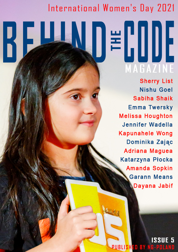 Magazine cover with young girl
