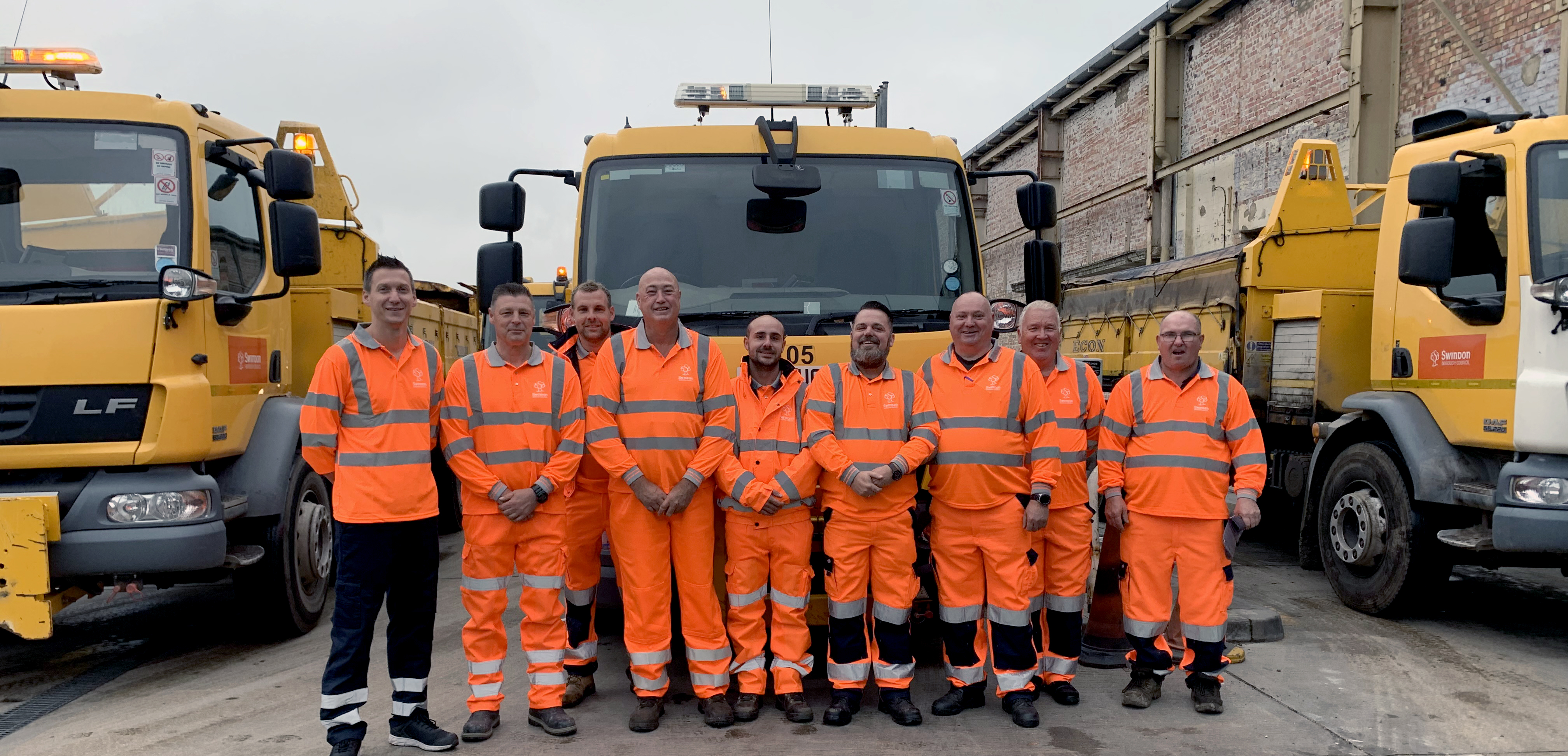 Swindon Borough Council's road gritting crew