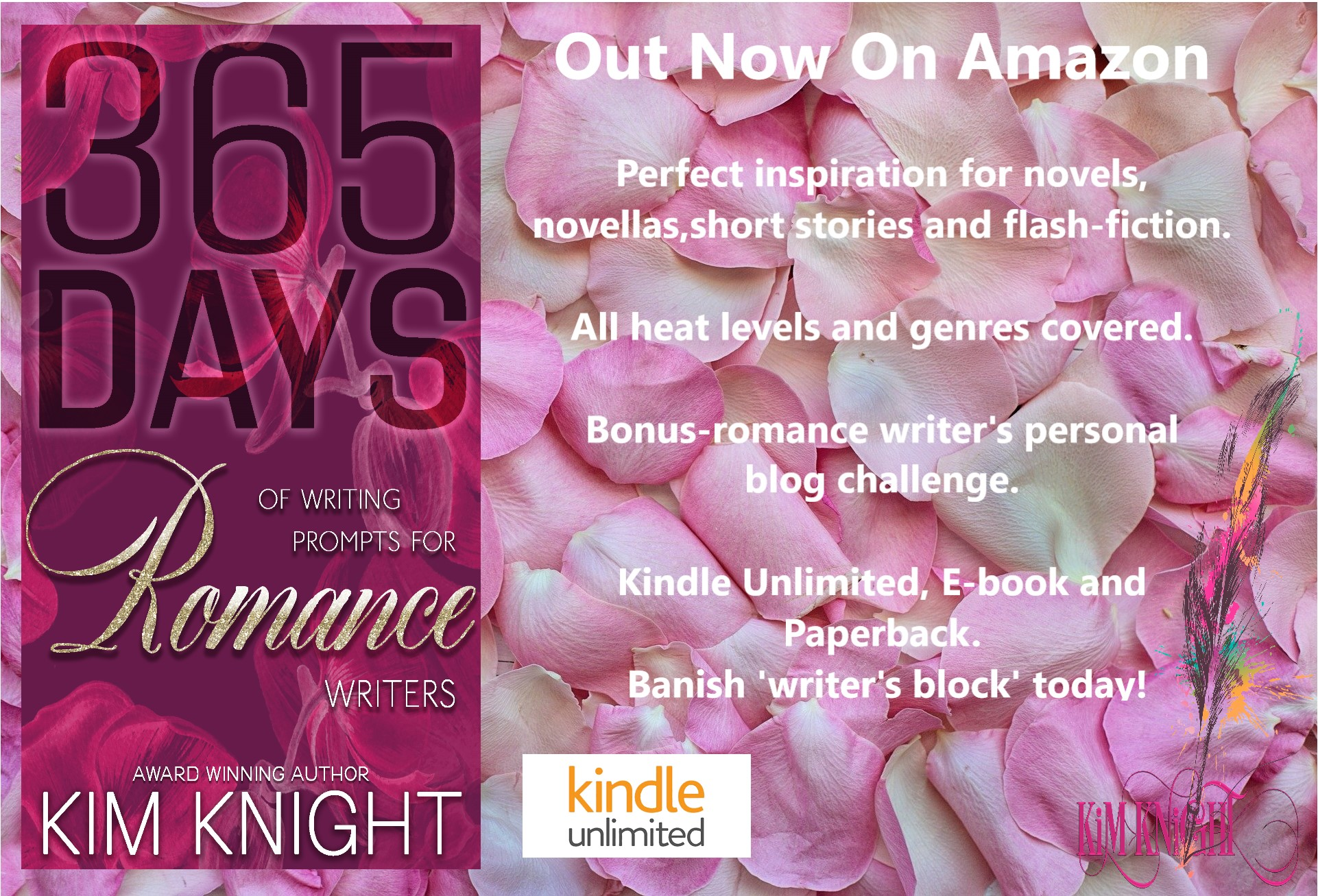 365 Days of Writing Prompts for Romance Writers banner