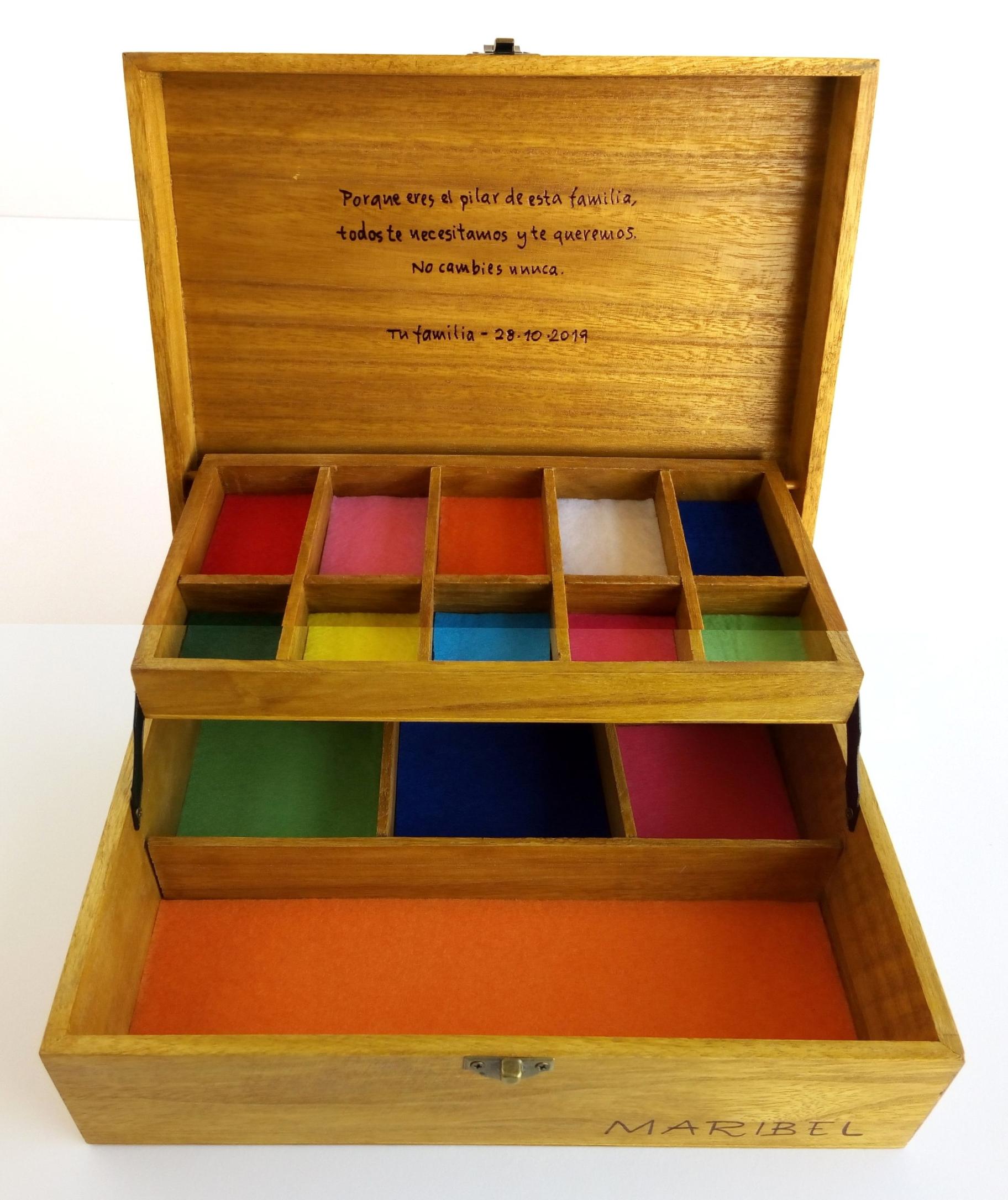 joyero de madera personalizado