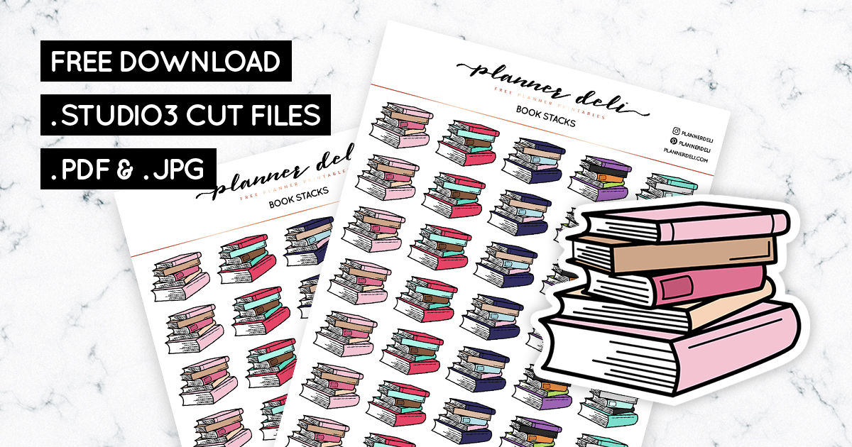 graphic about Free Printable Planner Stickers Pdf identify Down load Absolutely free E book Stacks Printable Planner Stickers as a result of