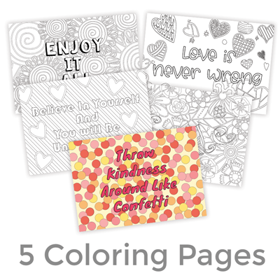 Printable Quote Coloring Pages (5 FREE Coloring Quotes!)