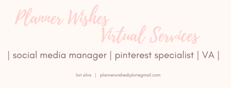 pinterest strategist and manager, plannerwishesbylori.com