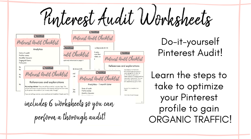 pinterest audit worksheet