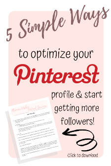 5 quick tips to optimize your Pinterest account