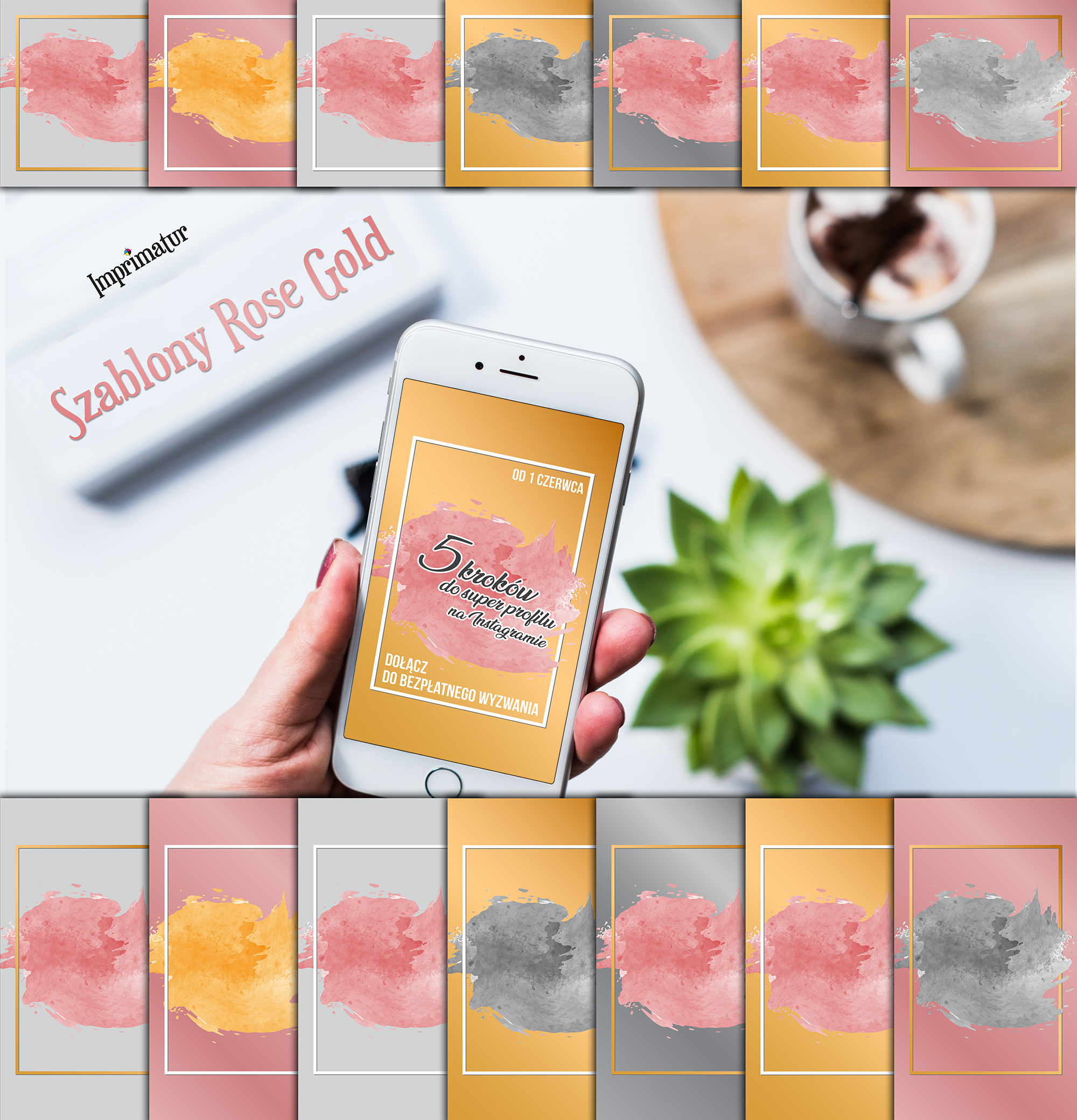 ImpriSzablony do Instagrama Rose Gold