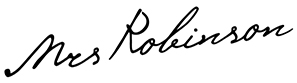 Logo Mrs. Robinson