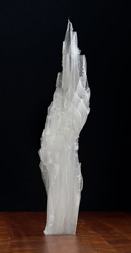 Crystal Conundrum, a 3D printed contemporary art sculpture - Kevin Caron