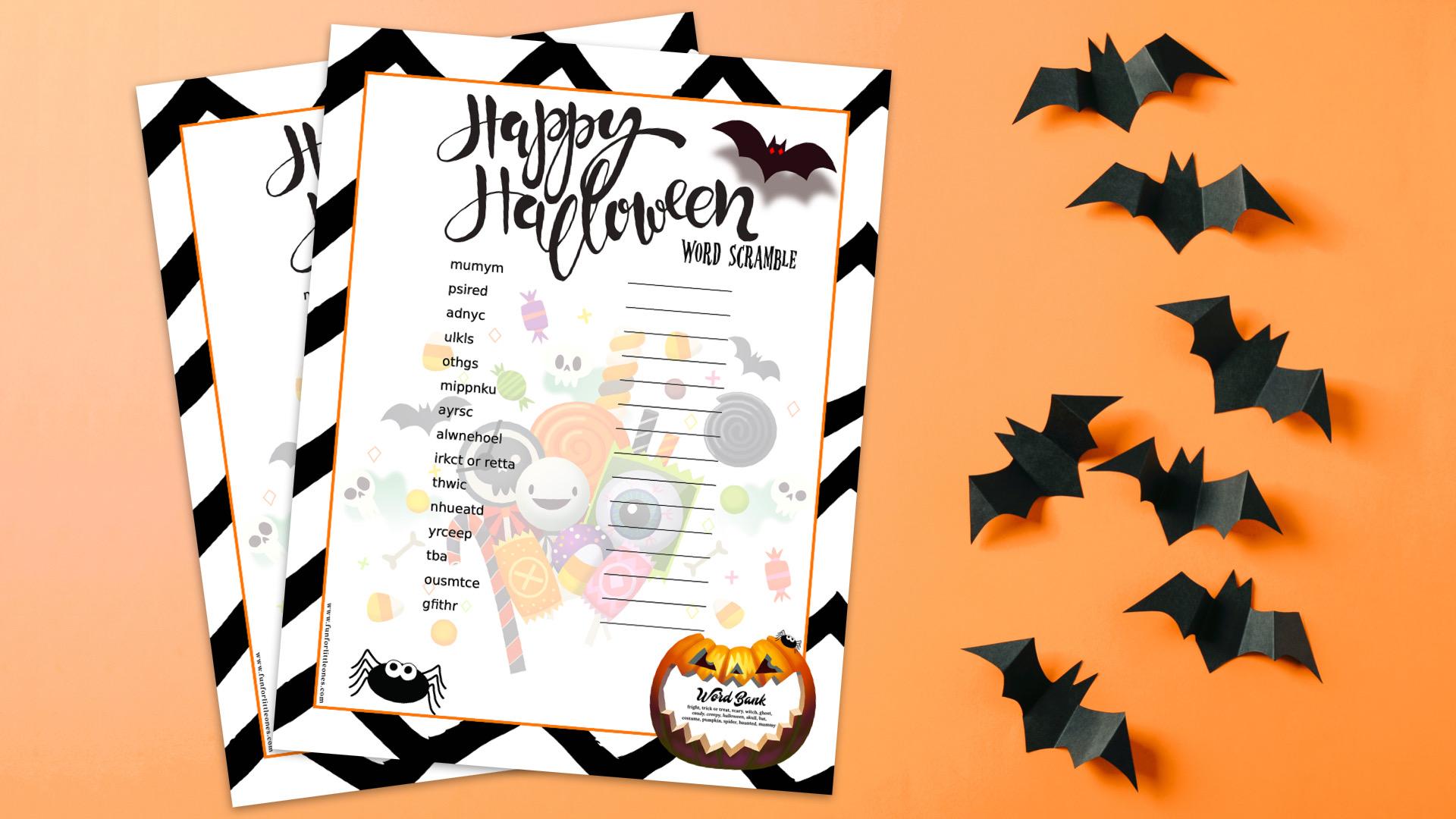 Free Printable Halloween Word Scramble for Kids + 17 More Freebies! 27