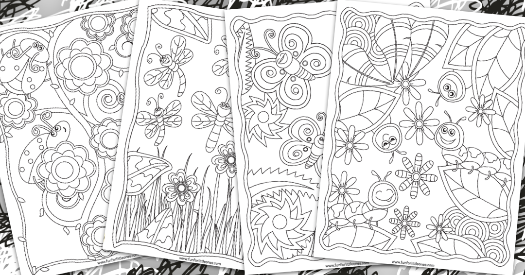 Bugs Coloring Pages for Kids (Free Printable) 1