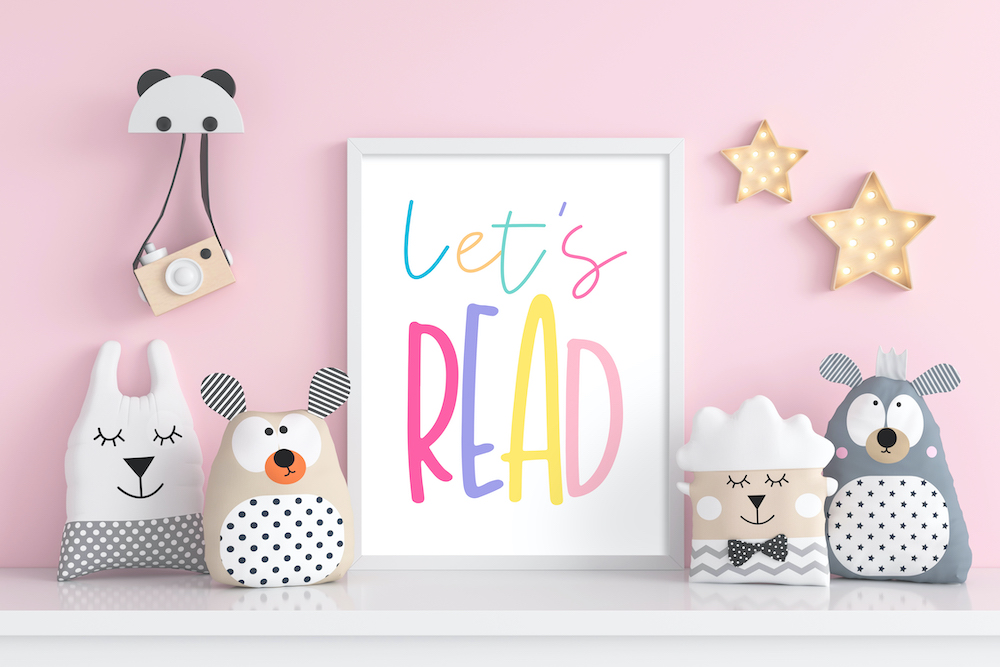 Free Printable Let's Read Playroom Wall Art 27