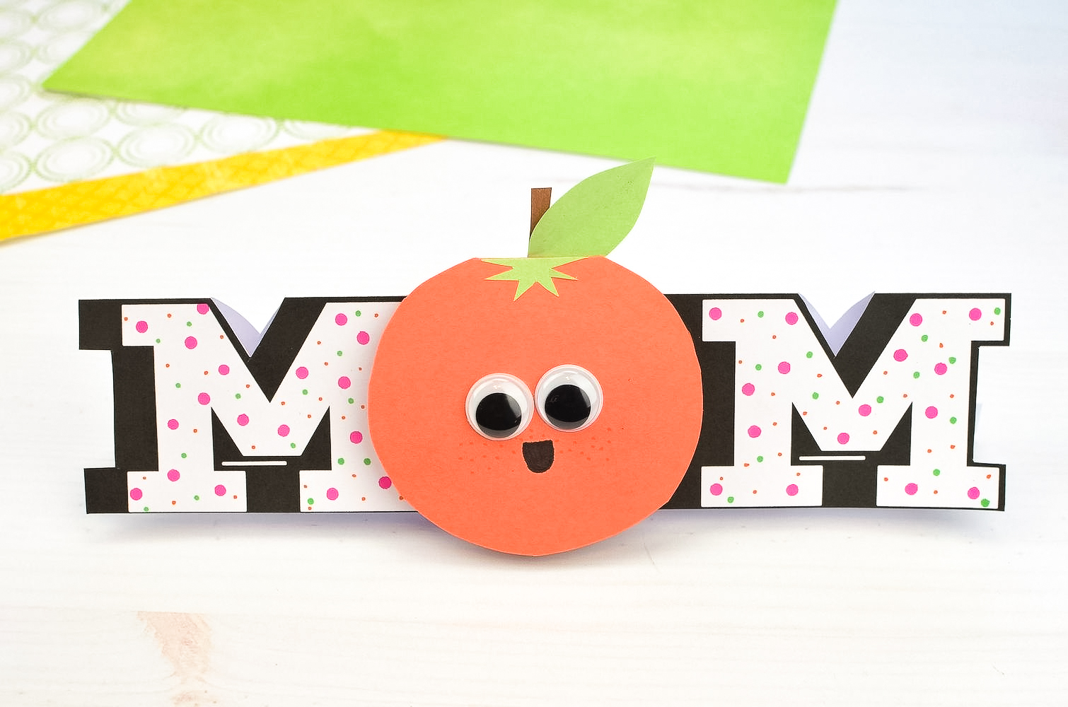 Funny Orange DIY Mother's Day Card (+ FREE Template) 5